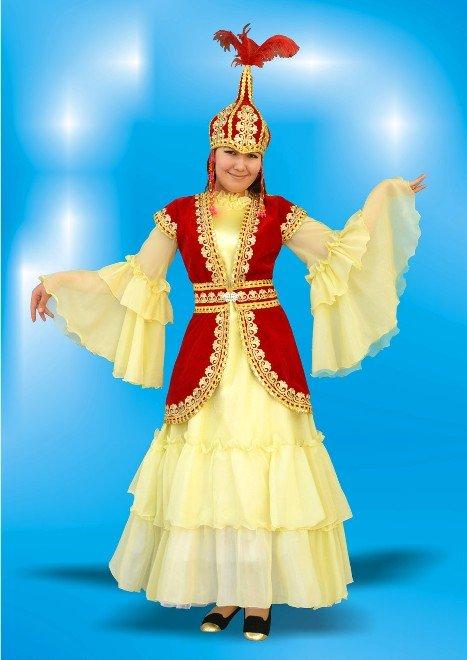 Казахський Національний Костюм, Одяг Казахів, Камзол, Казахська Шапка і Костюм Для Дівчинки