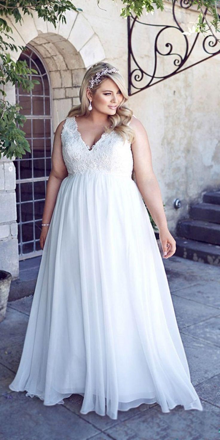 1120cab1da626b Весільні Сукні Для Повних Дівчат і Жінок, Короткі Красиві Фасони з Рукавом  на Пишну Фігуру